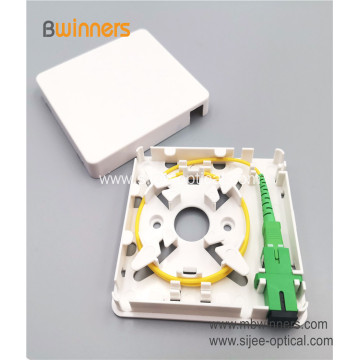 Indoor Wall Mounted 86*86mm Mini 1 Port SC Fiber Optic Socket
